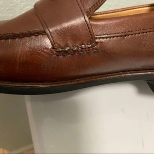 Johnston & Murphy Shoes - Johnston Murphy Men Leather Loafers Size 10M Brown